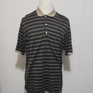 Bobby Jones Black Striped Polo Golf Shirt Size Xl